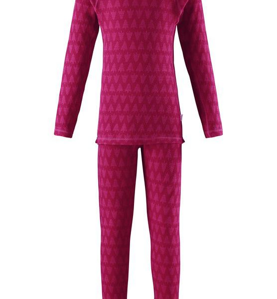 Taival Reima dievcenske vlnene termopradlo ruzove tricko nohavice