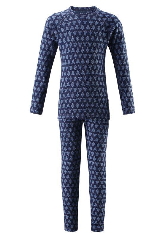 Taival Reima chlapcenske vlnene termopradlo modre nohavice a tricko