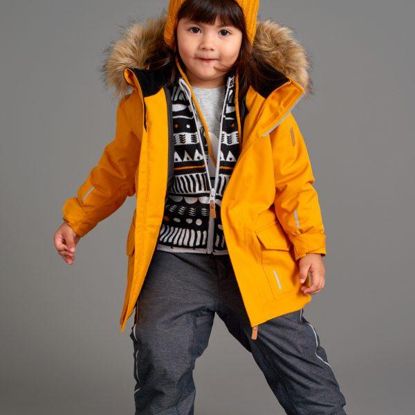 Reima detská zimná bunda s kožušinkou