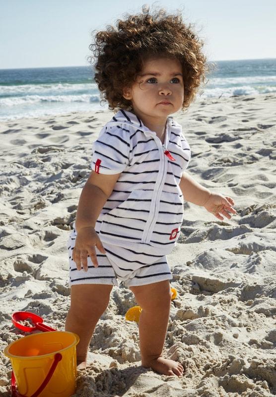Reima detský froté plážový overal s UV ochranou proti slnku