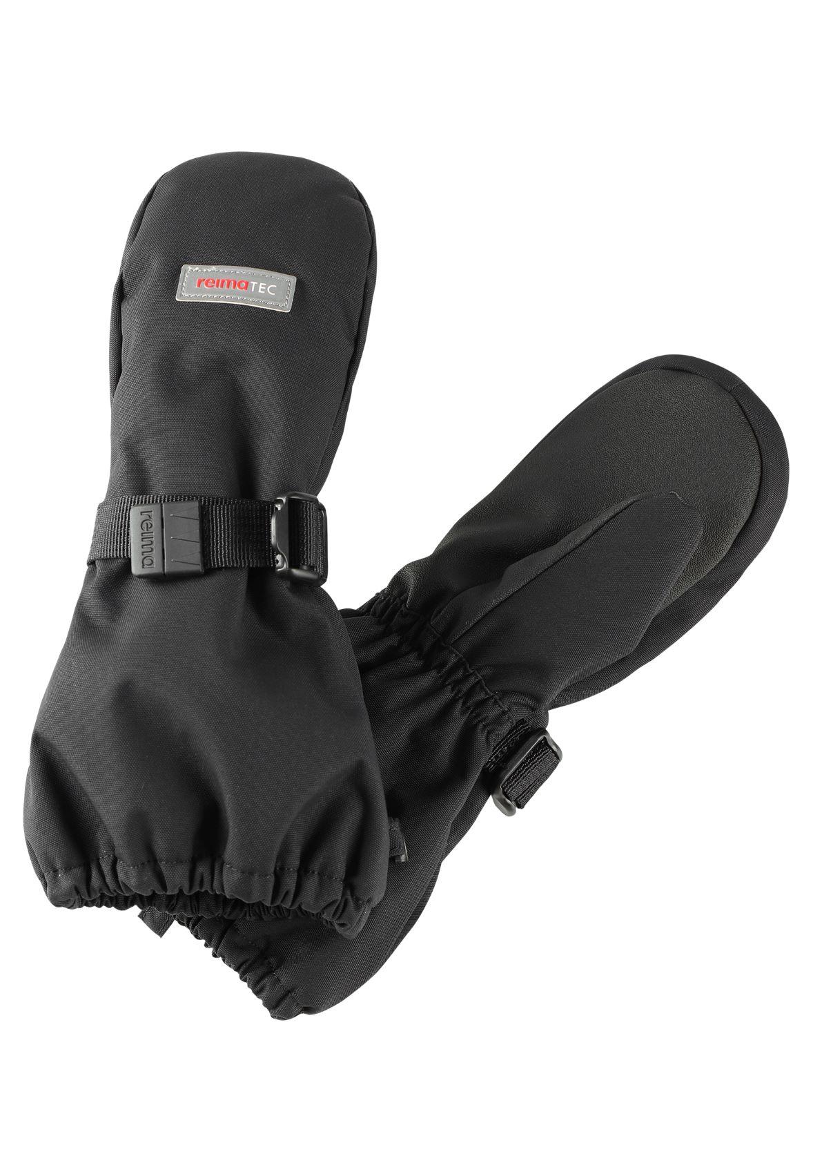 Reima Ote zimne cierne detske nepremokave rukavice palcaky