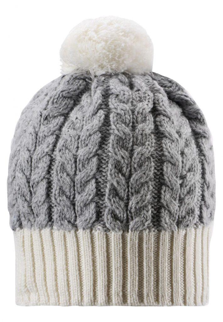 vlnena detska biela zimna ciapka Reima Pohjola s brmbolcom