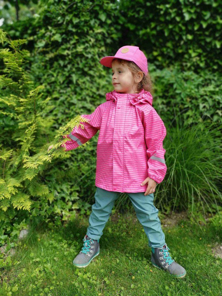 Reima Vesi detska dievcenska bunda do dazda ruzova