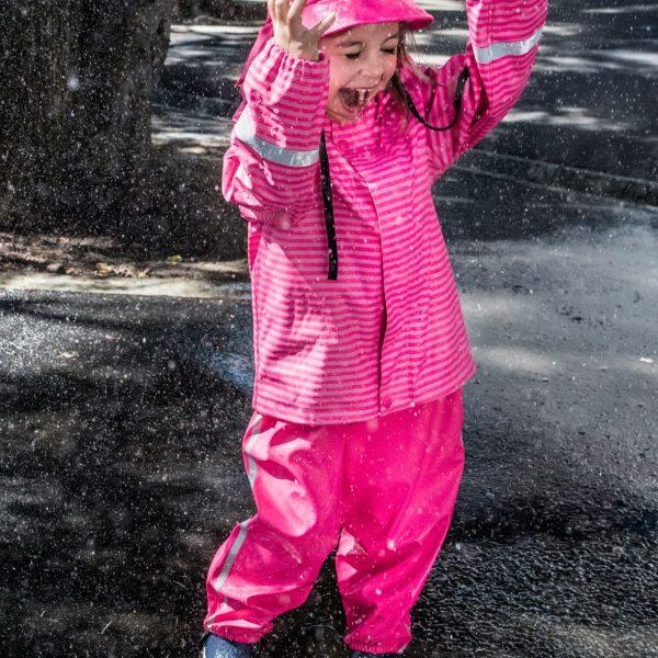 Reima Vesi ruzova dievcenska bunda do dazda