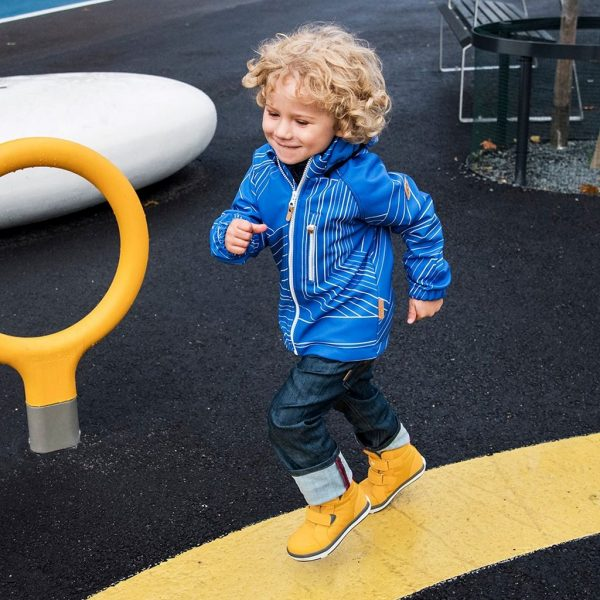 Reima Vantti modra chlapcenska softshellova bunda
