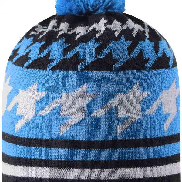 Reima Kohva - Marine Blue vlnena chlapcenska zimna ciapka modra 48 50 52 54