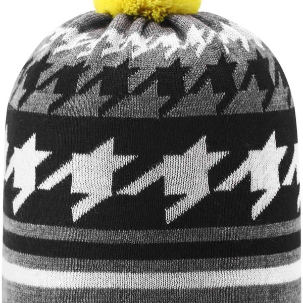Reima Kohva Melange Grey chlapcenska zimna ciapka cierna