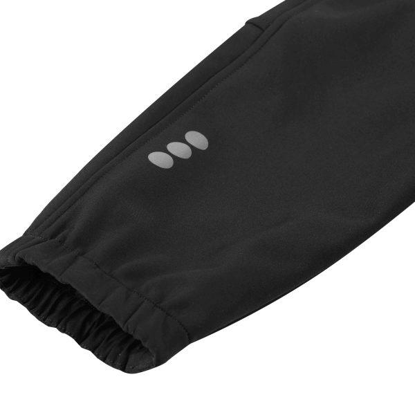 Reima Oikotie Black cierne detske softshelove nohavice