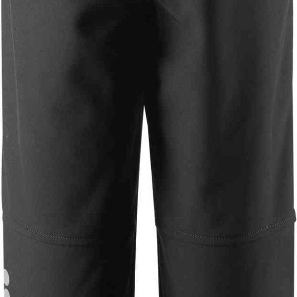Reima Oikotie Black cierne detske vodeodolne softshelove nohavice