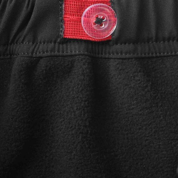 Reima Oikotie cierne detske softshelove nohavice