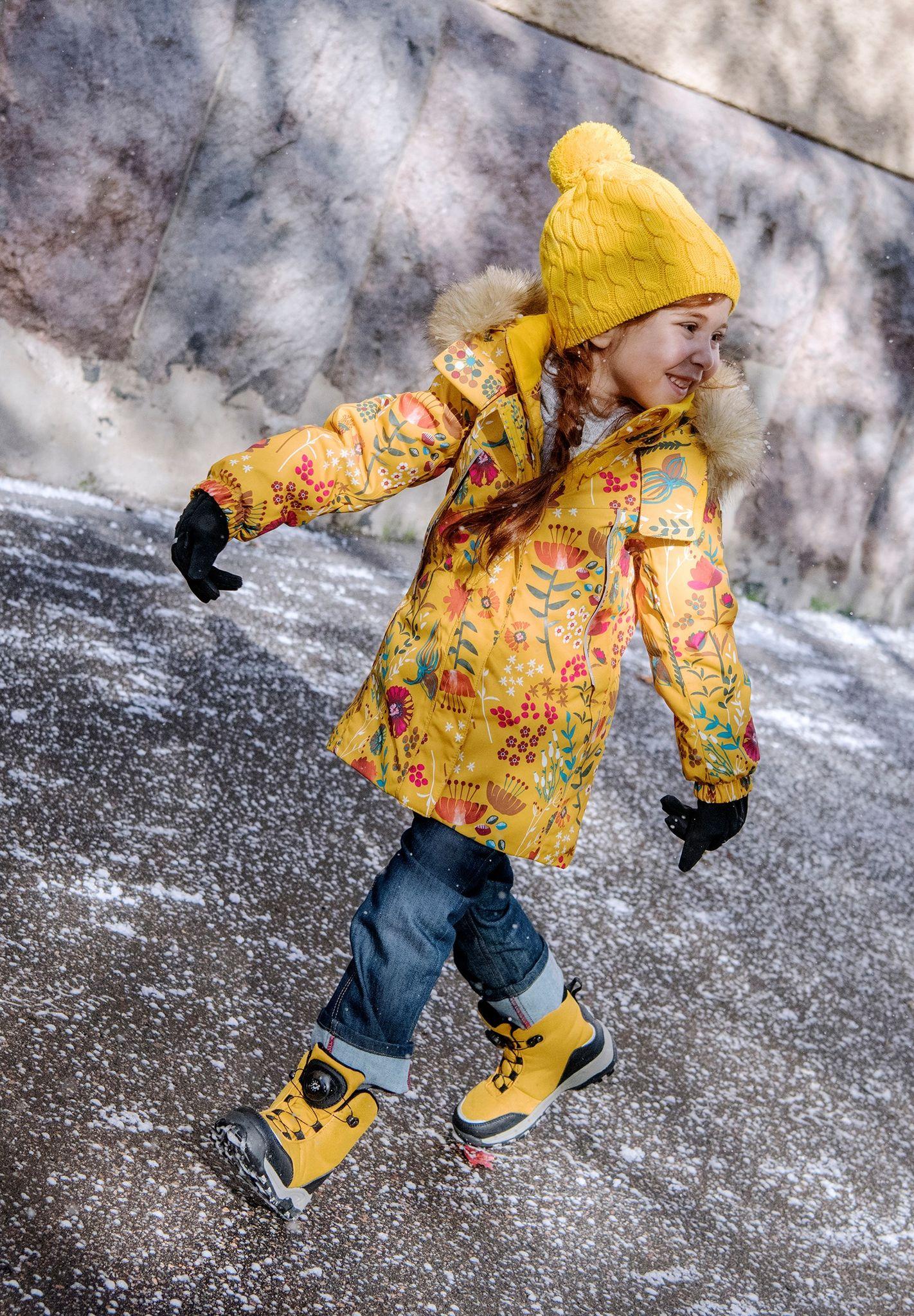Reima Muhvi - zlta zimna bunda pre dievcata