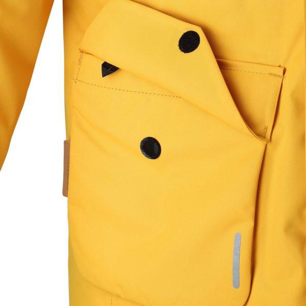 Reima Naapuri zlta detska znackova zimna bunda