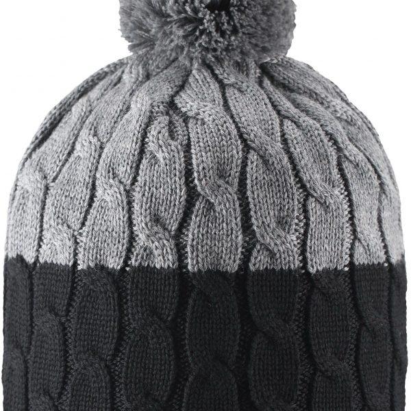 Reima Nyksund - Black zimna cierna merino vlnena detska ciapka