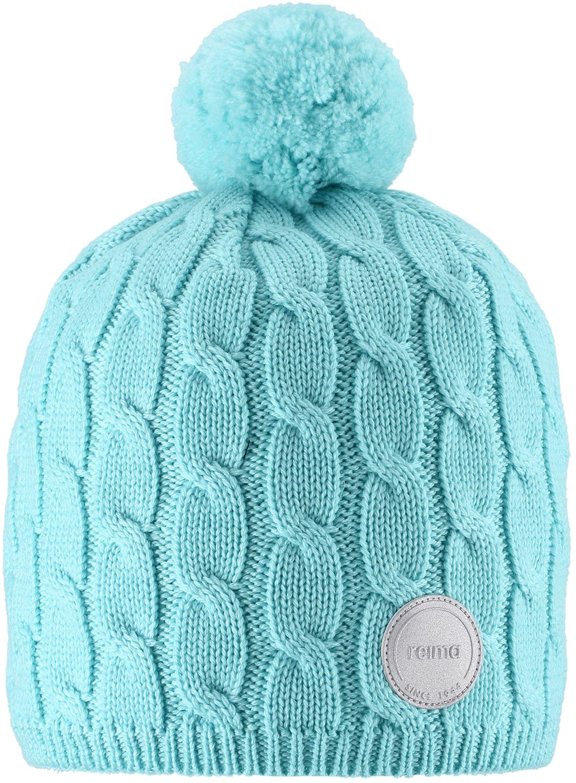 Reima Nyksund - Light Turquoise dievcenska tyrkysova zimna ciapka z merino vlny