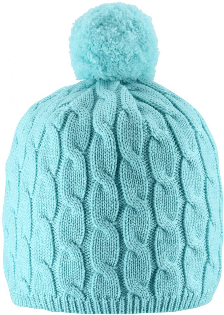 Reima Nyksund - Light Turquoise vlnena merino dievcenska ciapka