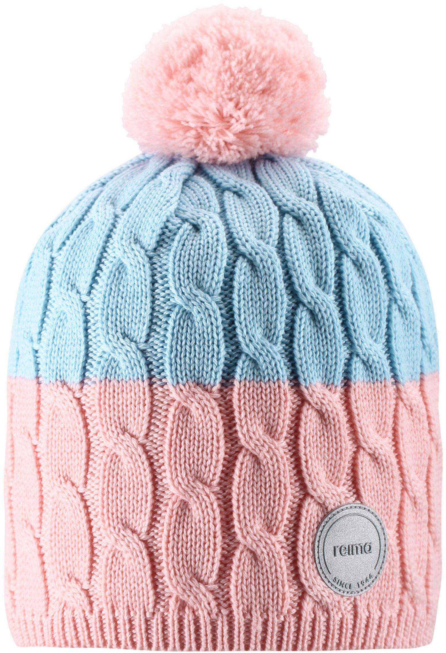 Reima Nyksund - Powder pink detska dievcenska merino vlnena ciapka