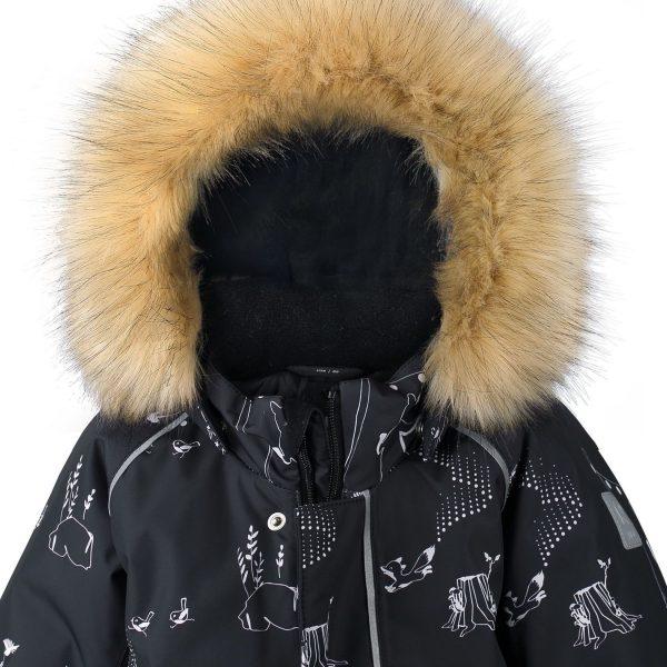 Reima Lappi zimna cierna detska membranova kombineza pre chlapca dievca 80 98
