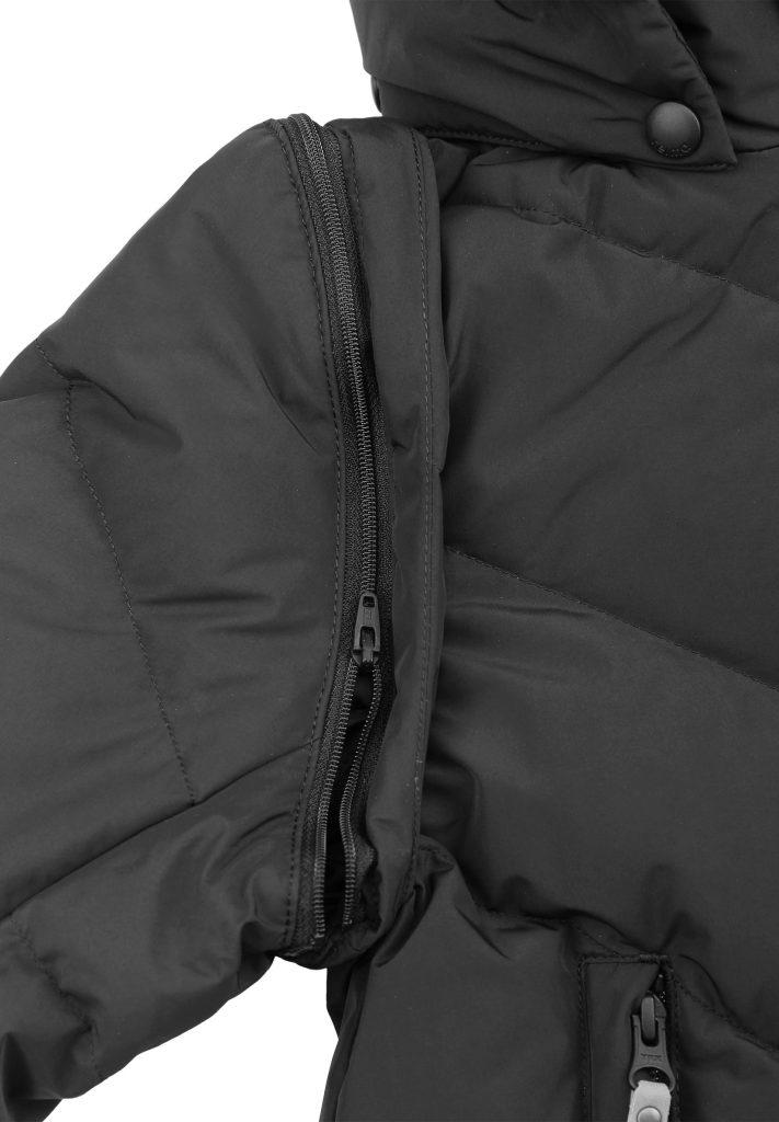 Reima Beringer Cierna detska paperova bunda a vesta 2v1