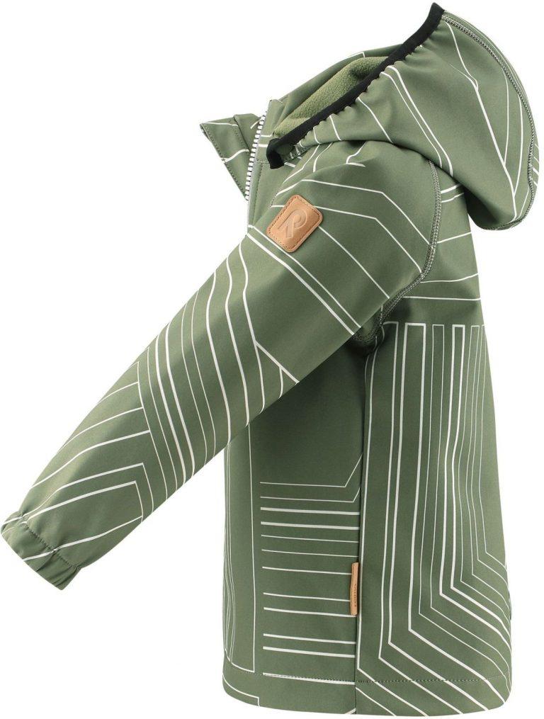 Reima Vantti - Greyish Green softshellova detska chlapcenska bunda