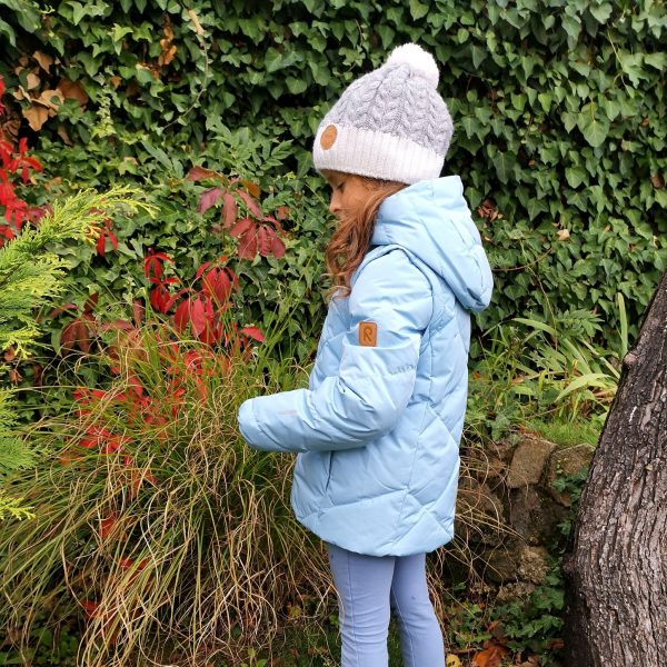 Reima Heiberg dievcenska bledomodra paperova bunda na zimu