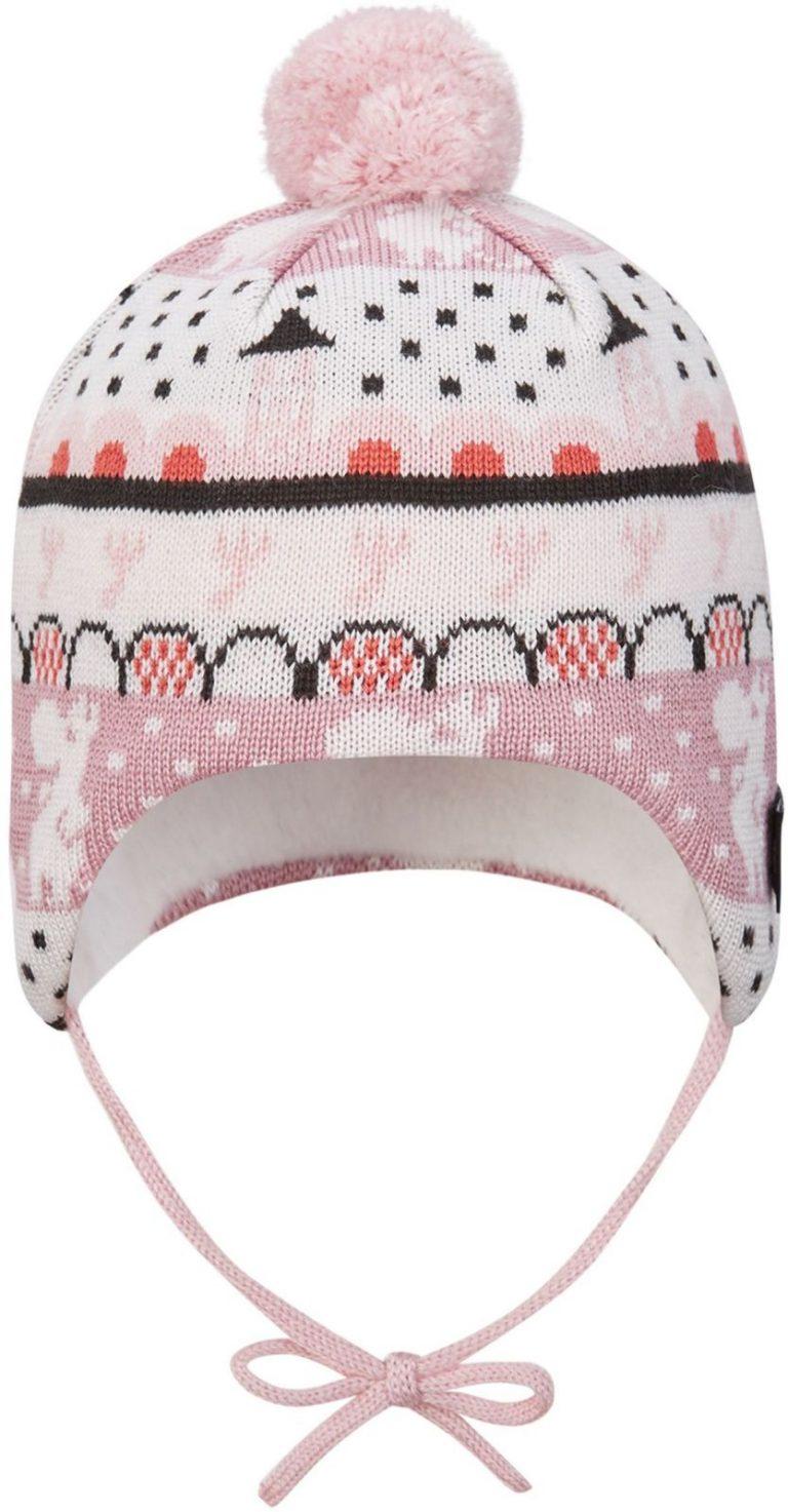 518575m-4301_Reima Moomin Yngst - Blush pink zimna vlnena ciapka pre babatka ruzova