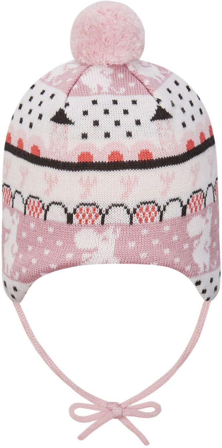 518575m-4301_Reima Moomin Yngst - Blush pink vlnena zimna ciapka pre babatko